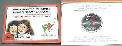 5 Euro 2003 Irland Special Olympics in Farbe - Stempelglanz