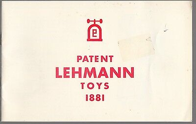 [61038] Patent Lehmann Toys 1881 Toy Catalog Reproduction