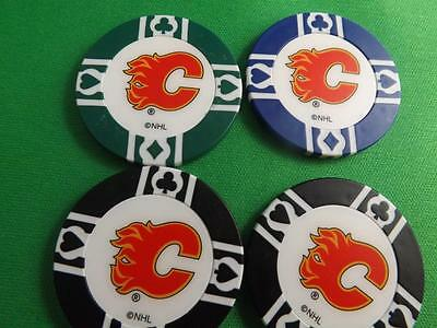 Calgary Flames Nhl Hockey Poker Chips Collector Lot 4 Pieces