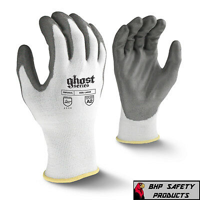 Radians Ghost Cut Resistant Work Gloves Level A2 Pu Palm Rwg550 (Sm-2Xl)