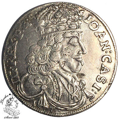 Poland Jan Kazimierz Ort (18 Groszy) 1657 IT - R1