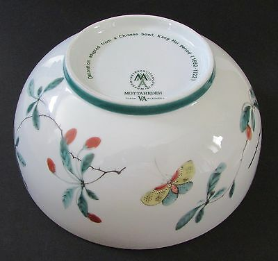 """Mottahedeh Metropolitan Museum of Art """"K'ang Hsi"""" Decorative Butterfly Bowl"""