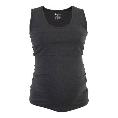BNWT Maternity Breastfeeding Singlet - Charcoal