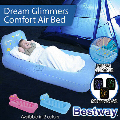 New Bestway Dream Glimmers Air Bed With Lights Girls Boys Camping Travel Outdoor