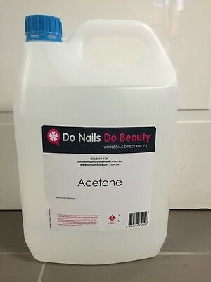 100% Pure ACETONE Salon Nail Tec gel or polish -Posts to Brisbane only! 5 Litre