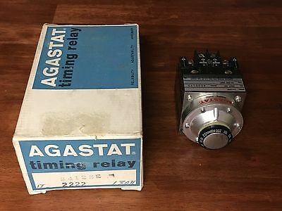 Agastat 2412SE Timing Relay 10-200 Seconds 250 VDC Coil