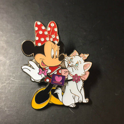 Hkdl Hong Kong Disney Disneyland Trading Pin Minnie with Marie 101036