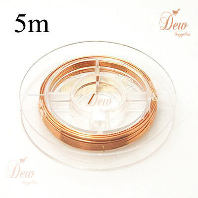 1 roll Copper wire jewellery findings 0.4 mm 5 meters wrap craft jewelry making