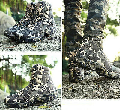 7582 Men's Camo Airsoft Tactical Boots Outdoor Hunting Camping Waterproof shoes