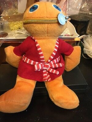 Zippy soft toy from Rainbow series wearing dressing gown