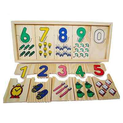 1 Set Baby Montessori Educational Digital Matching Math Teaching Sensory Toys