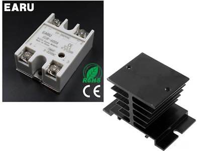 SSR-40DA 40A SSR Solid State Relay with Aluminum Heat Sink & Top/Cover(UK STOCK)