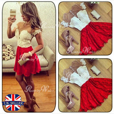 Sexy Women Sleeveless Evening Party Cocktail Lace Wedding Short Club Mini Dress