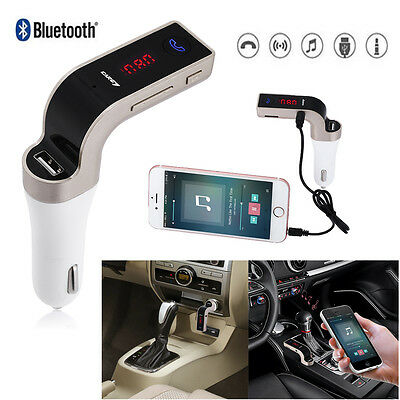 Bluetooth Car Kit FM Transmitter MP3 USB Charger Handsfree For iPhone Samsung UK