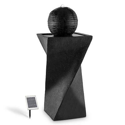 Solar Battery Powered Pump Water Fountain Feature Attractive Stone Sphere Design