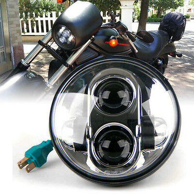 "Universal Motorcycle 5.75"" LED Headlight Daymaker Projector DRL Bulb for Harley#"