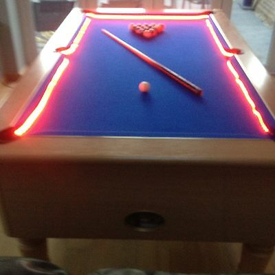 Bar Billiard Pool Table Bumper LED RGB Color Changing Lights Remote Controlled