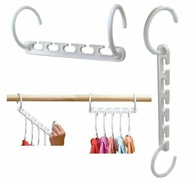 Space Saving Closet Clothes Magic Hanger Holders 5 Hook Adjustable Organizer AU