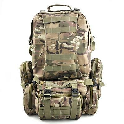 Military Tactical Army Rucksack Backpack Outdoor Camping Hiking Trekking Bag Zip