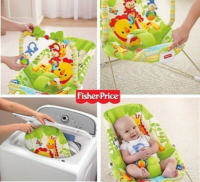 Fisher Price Rainforest Friends infant baby Bouncer chair