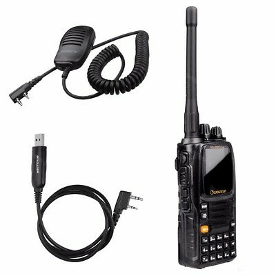 WOUXUN KG-UV9D Plus U/V 7Bands Transceiver Two Way Radio Walkie Talkie Cable Mic