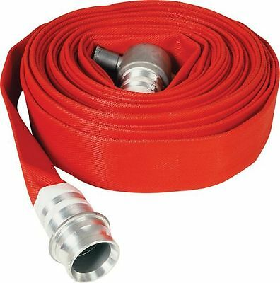 New Red Layflat Fire Hose Type 3: 23M X 64Mm C/w Couplings *free Shipping*
