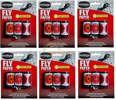 Vitax Nippon Attractive Fly Papers Sticky Trap Pack Of 18