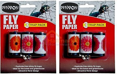 Vitax Nippon Attractive Fly Papers Sticky Trap Pack Of 6
