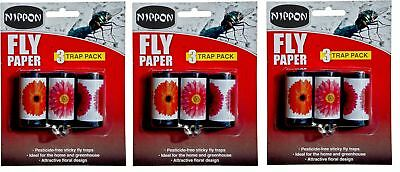 Vitax Nippon Attractive Fly Papers Sticky Trap Pack Of 9