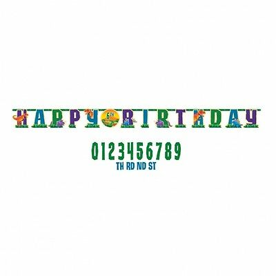 Dinosaur Birthday Party Decoration 10ft Add An Age Happy Letter Banner
