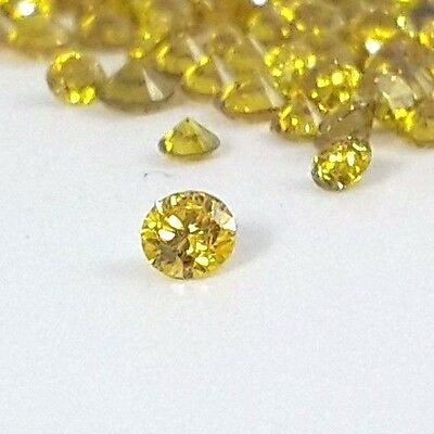 Loose Yellow Diamond 1 mm - 2.50 mm round brilliant cut natural on sale fancy