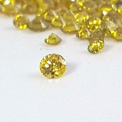 Loose Yellow Diamond 1.80 mm - 2.90 mm round brilliant cut natural on sale fancy