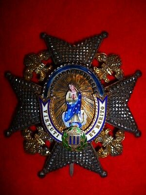 Spain, Order of Charles III, Grand Cross Breast Star, Superb quality, 19th Cent.