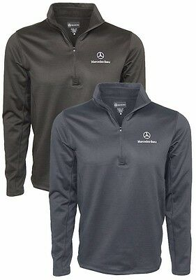 Oem Genuine Mercedes Benz Men's 1/4 Zip 100% Polyester Fleece Pullover