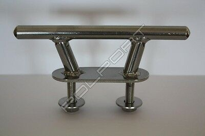 """Stainless Steel 2 Hole Boat Deck Cleat 6"""" PREMIUM CLASS"""