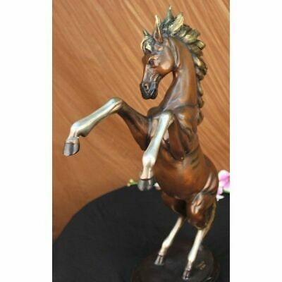 Signed Muscular Toned Horse Animal Bronze Sculpture Handmade Figure