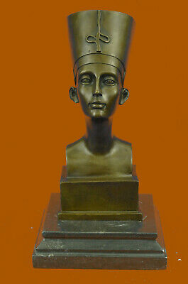 Miniature Signed Original Vitaleh Nefert Bronze Sculpture Handmade Figure