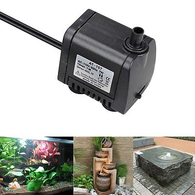 Ultra Quiet 400L/H Electric Submersible Water Pump Fountain Pool Pond Fish Tank