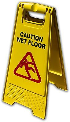 Caution Wet Floor Sign - Bi-Lingual - Wholesale 10 Pack