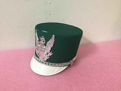 USED Green / white Bayly Marching Band Hat Medium