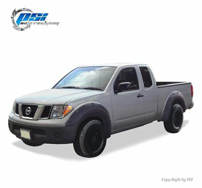 "Black Paintable Pop-Out Fender Flares 05-14 Fits Nissan Frontier 73.3"" Styleside"