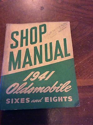Vintage 1941 Oldsmobile Shop Manual Sixes And Eight