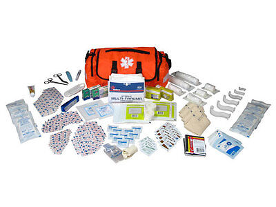 OnCall FirstAid Responder Paramedic Medical EMT Trauma Kit Fully Stocked, Orange