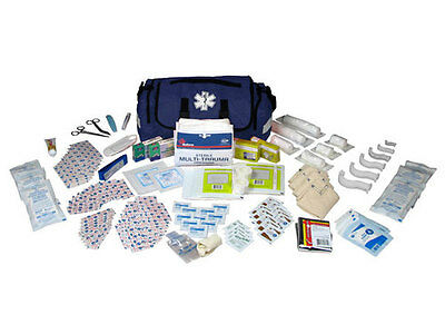 On Call First Aid Responder Paramedic Medical EMT Trauma Kit Fully Stocked, Blue