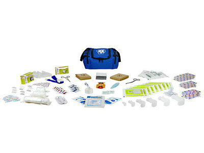 First Aid Responder EMS Medical EMT Emergency Trauma Kit Fully Stocked - Blue