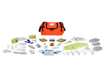 First Aid Responder EMS Medical EMT Emergency Trauma Kit Fully Stocked - Orange
