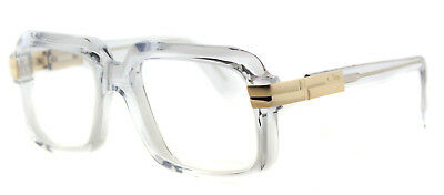 Authentic Cazal 607 065 Legends Crystal Gold Plastic Square Eyeglasses 56mm