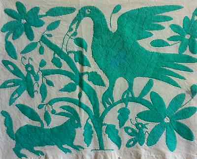 Otomi Embroidery-Turquoise Design