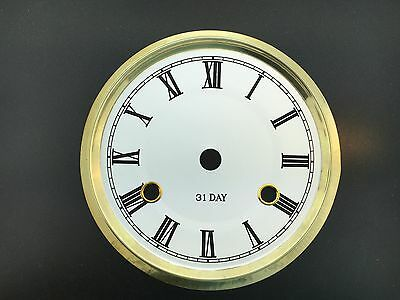 "6 5/8"" Metal Dial for 31 Day Clock in White Color"