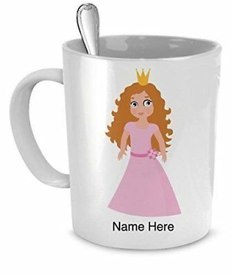 Personalized Princess Mug - Just Add Your Name - Gift For Girls